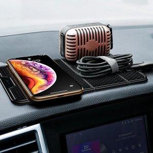차량용 휴대폰 거치대/논슬립 패드 블랙/흡착형