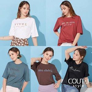 Cout-J. 꾸뜨제이 썸머 레터링 티셔츠 5종