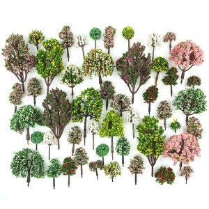 디오라마 건축모형재료-컬러 나무모형 혼합 벌크(랜덤)