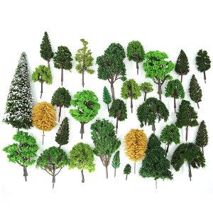 디오라마 건축모형재료-초록 나무모형 혼합 벌크(랜덤)