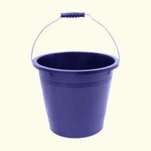 P검정 바스켓 15리터 플라스틱물통 바께스 사료통 물