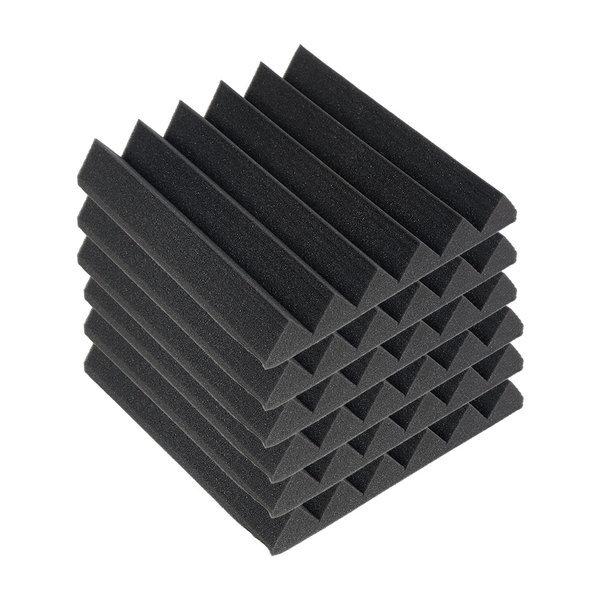 6pcs 흡음스펀지 방음재 소음감소 난연제품 30/30/5cm