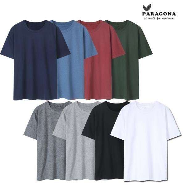 베이직 라운드 반팔 티셔츠 8컬러 무료배송