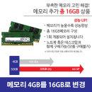 메모리 4GB에서 총 16GB로 Upgrade HP 255 G7용