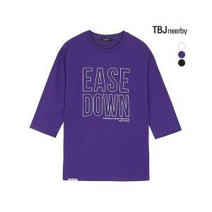 유니 미니쮸리 레터링 7부 티셔츠 T192TS050P