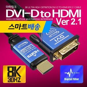 Ultra DVI TO HDMI ver2.1 8K 케이블 1.2M ML-D8H012
