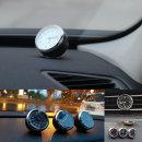 자동차시계 온도계 날짜 차량용 /C 꼬마원형아날로시계
