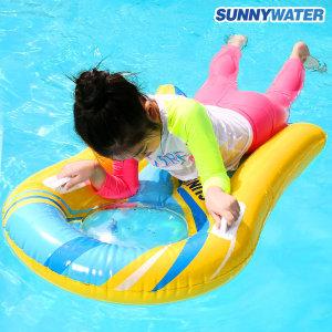 써니워터 투명 파도타기 튜브(옐로우) 물놀이 수영