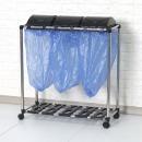 뚜껑 분리수거함 3P 1단 스윙 쓰레기통 휴지통 재활용