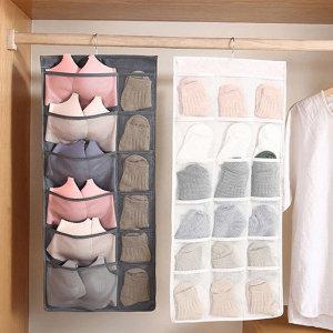 포켓 정리함 양면 옷걸이형 양말 속옷