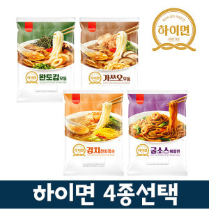삼립 뉴 하이면 완도김우동/가쓰오/김치잔치국수/굴소