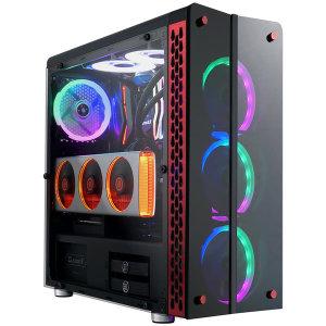MASTER M500 레인보우 강화유리 미들타워 PC 케이스