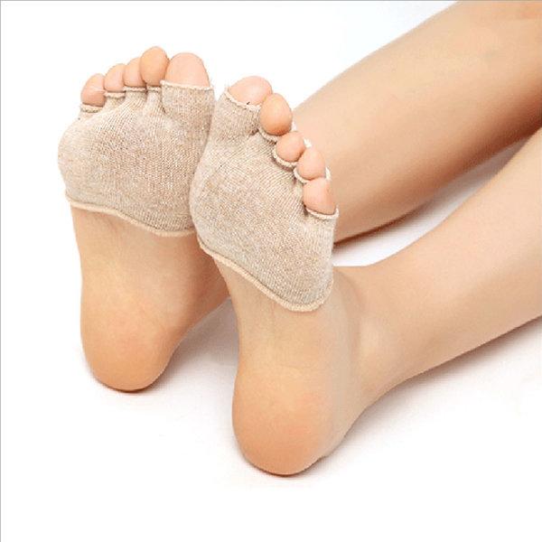 여성 무좀 커버 반 양말 페이크삭스 오픈형 발가락형