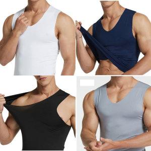 아이스나시티 4P 남성 남자 민소매 런닝 나시 티 셔츠
