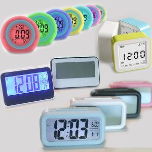 와이드 대화면 디지털 탁상시계 백라이트 알람시계