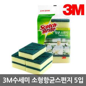 3M수세미 소형 항균 스폰지 다목적수세미 5입