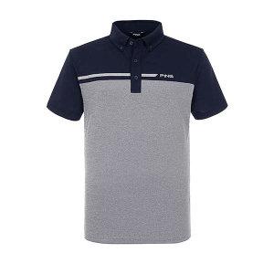 (현대백화점)핑골프 PING 남성 컬러 블록 반팔 카라 티셔츠 11292TO903