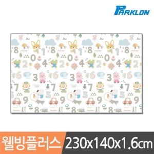 파크론 뽀로로 숫자놀이 웰빙 놀이방매트 230x140x1.6cm [1개]