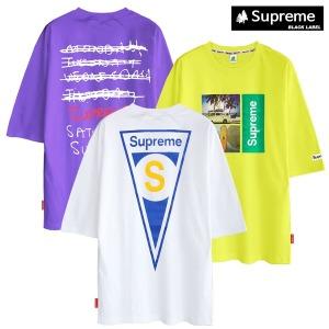 M~5XL 슈프림 반팔티 티셔츠 남자 티 면티 여름티
