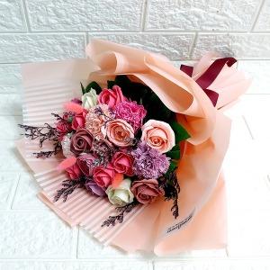 비누꽃다발 프리저브드 목화꽃다발 장미20송이 졸업식