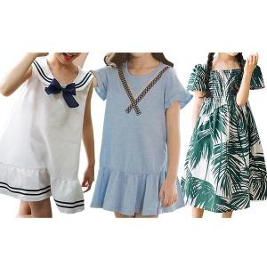 체크넥원피스/주니어여름원피스/초등생원피스/여름옷