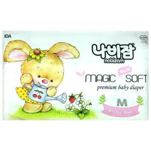 나비잠 매직소프트 밴드 M 공용 40매 1팩