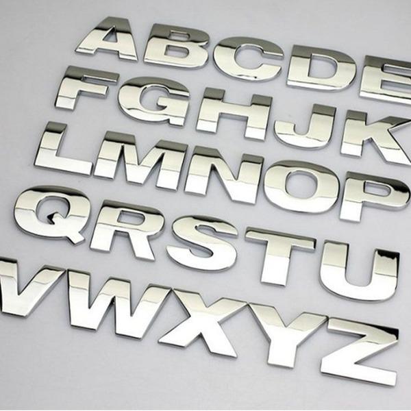 자동차 크롬 3D 문자 엠블램-영문 숫자 튜닝 스티커