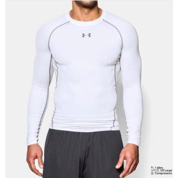 (신세계센텀점) 언더아머 남성 UA HeatGear  아머 긴팔 컴프레션 셔츠 1257471 100