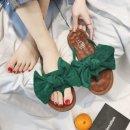 샌들 여성 왕리본 포인트 슬리퍼 쪼리 귀여운디자인