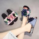 샌들 여성 슬리퍼 키높이샌들 여름신발 꽃장식 데님소