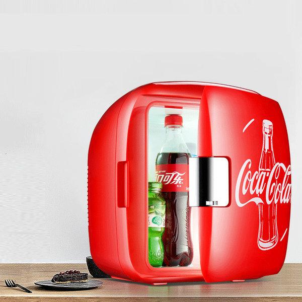 코카콜라 미니냉장고 가열보온 가정용 차량용 소형레드