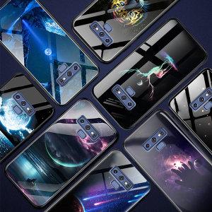 갤럭시S10 5G 야광 글라스 범퍼 케이스 감성 디자인