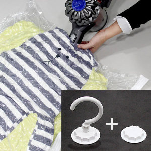 옷걸이 압축팩 이불의류패딩 겨울옷정리 중형 6장
