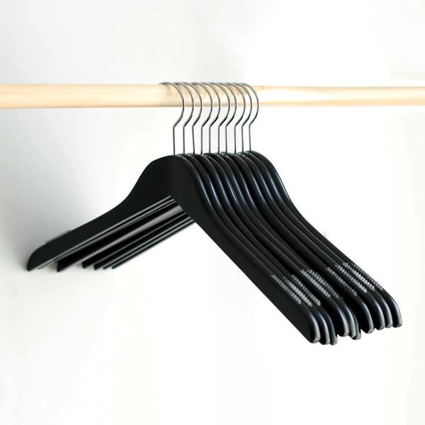논슬립 원목 상의걸이 50p /나무옷걸이 프리미엄