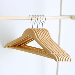 프리미엄 원목옷걸이 50p /나무옷걸이 고급옷걸이