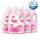 섬유유연제 피죤 3100ml 4개 핑크로즈