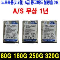 A급중고하드 노트북 하드디스크 SATA 80G 160G 250G