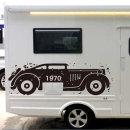 뉴트로 감성 클래식카 차량용 스티커 대형 스티커