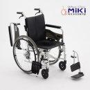 미키 알루미늄 휠체어 SMART-C PU (발걸이 착탈)