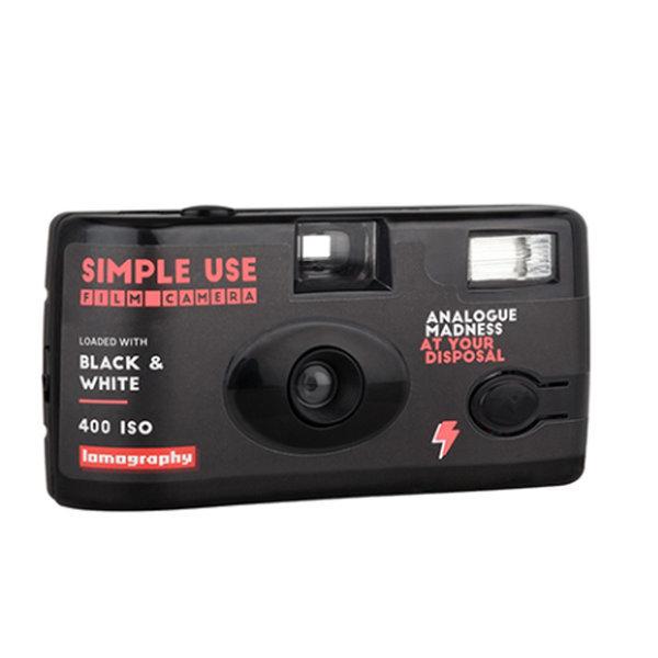심플유즈 카메라(다회용 카메라) 36컷 필름내장.블랙