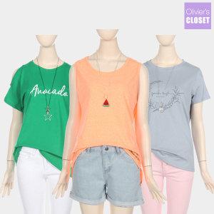 여름에 꼭 필요한 티셔츠 7900 균일가 50종택일