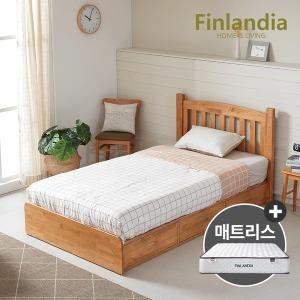 핀란디아 탠디 슈퍼싱글침대(서랍형)+드림온21매트