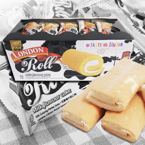1박스(20봉) 런던롤 밀크향 400g 케이크 간식 빵 과자