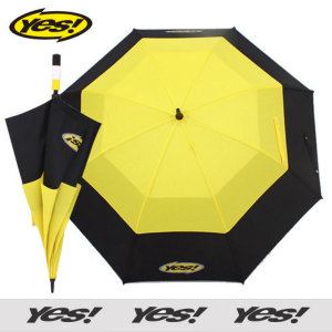 예스80 이중방풍 옐로우_장마철 고급 대형우산 장우산