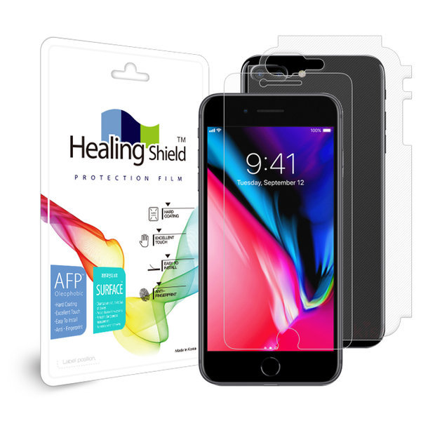 아이폰 8/플러스 X Xs 맥스 XR 올레포빅 보호필름 2매