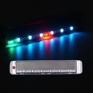 태양열 크롬사각 26패턴 LED 경광등 싸이키 태양광 바