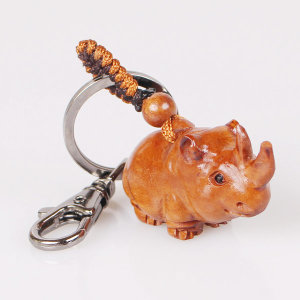국산 대추나무 열쇠고리-코뿔소