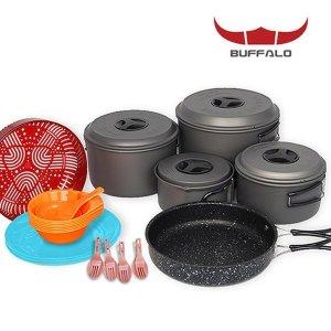 버팔로 코펠 경질 7-8인용/식기세트 캠핑용품