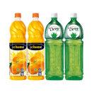 앳홈 과일주스 1.5L 제주감귤x2pet + 알로에생x2pet