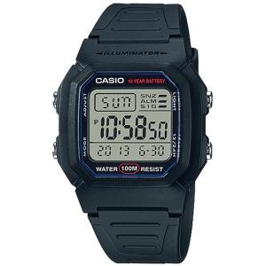카시오 손목시계 군인학생 W-800H-1A 방수 W-800H-1